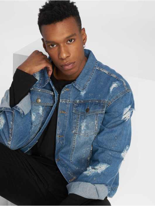 De Ferro Jeansjacken Denim Wall blau