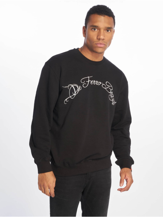 De Ferro Jumper Dark Rainbow Crew black