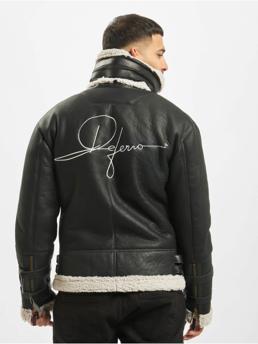 De Ferro Leather Jacket Signature black