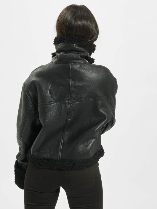 De Ferro Leather Jacket Black Lam black
