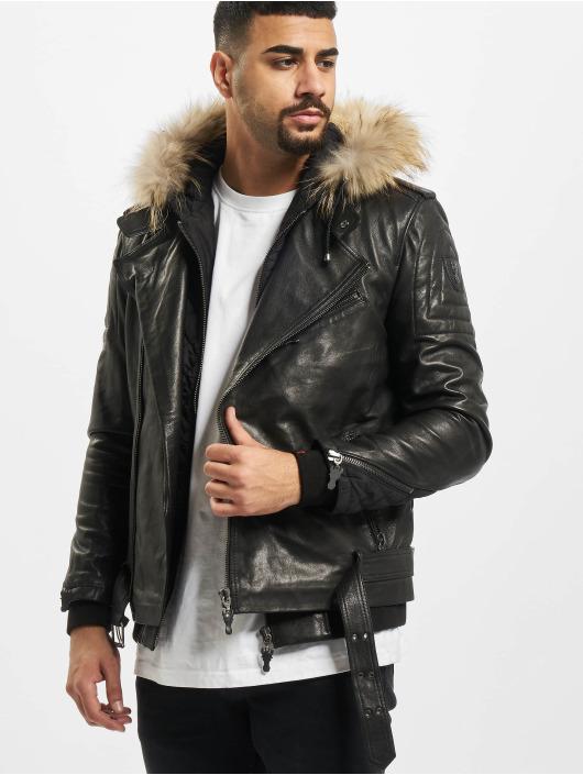 De Ferro Leather Jacket Team Faith black