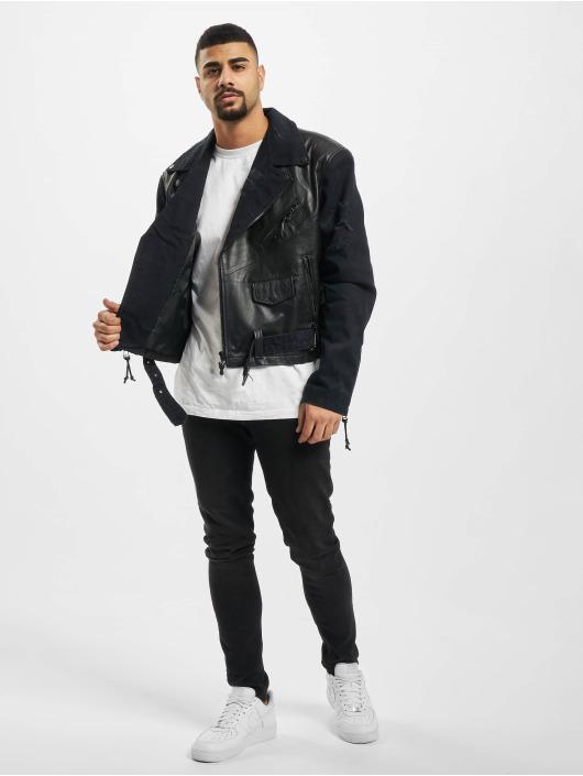 De Ferro Leather Jacket Granite Blast black