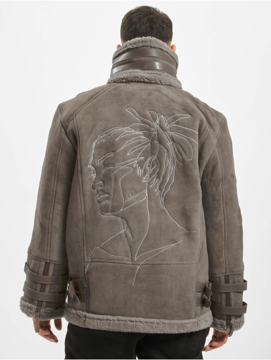 De Ferro Leather Jacket Dread grey