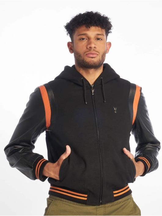 De Ferro leren jas Bb Orange Art zwart