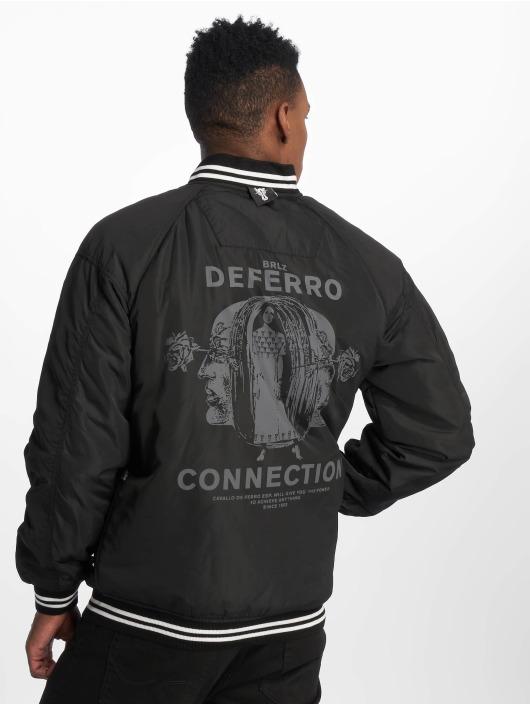 De Ferro Pilotjakke Connect Bomb svart