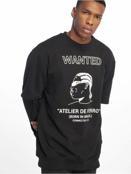 De Ferro Pullover Arm B Wanted black