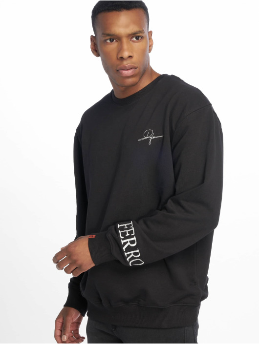 De Ferro Pullover No Money Crew schwarz
