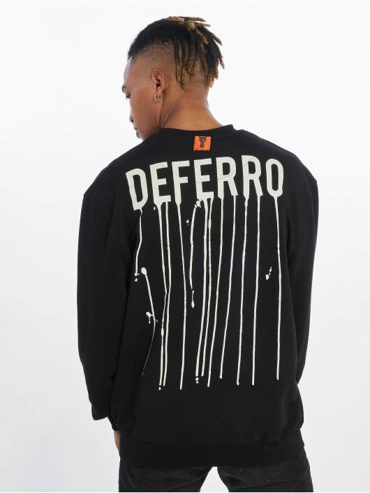 De Ferro Pullover Draft Crew schwarz