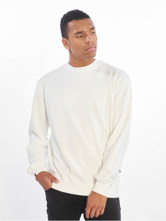 De Ferro Pullover Light Rainbow Crew white