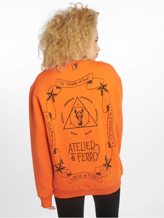 De Ferro Svetry Orange Fantasy Crew oranžový