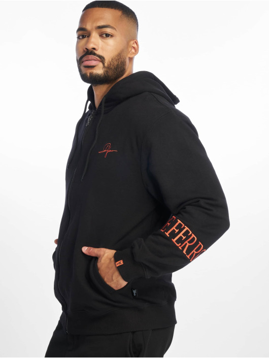 De Ferro Sweat capuche zippé Deferro Zip noir