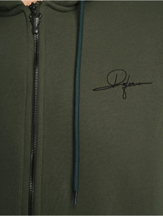 De Ferro Sweat capuche zippé Zip Click vert