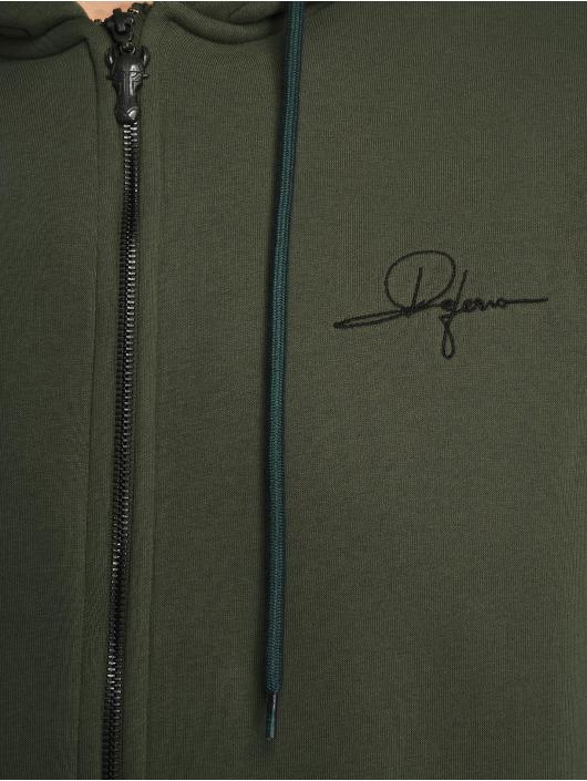 De Ferro Sweatvest Zip Click groen