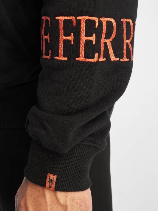 De Ferro Sweatvest Deferro Zip zwart