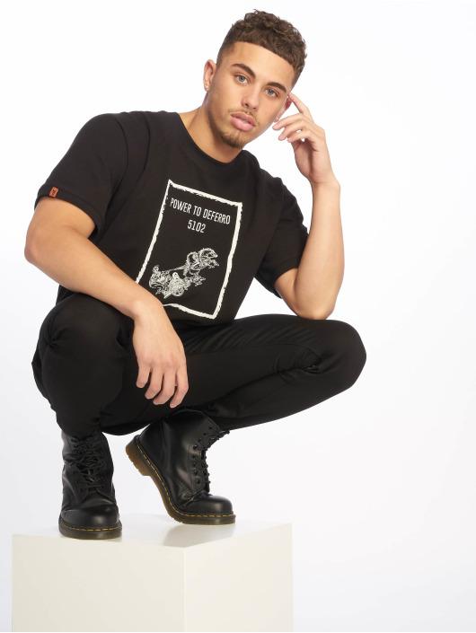De Ferro t-shirt Power T zwart