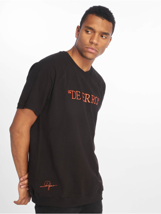 De Ferro T-Shirty Deferrp Piece czarny