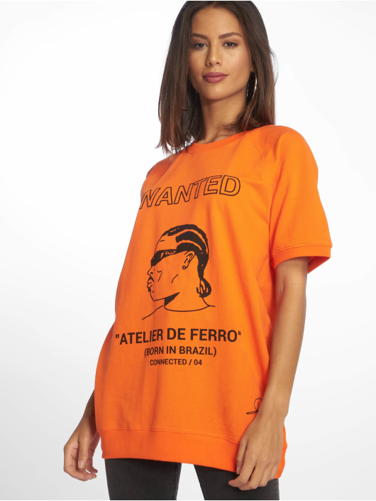 De Ferro T-Shirty T Wanted pomaranczowy