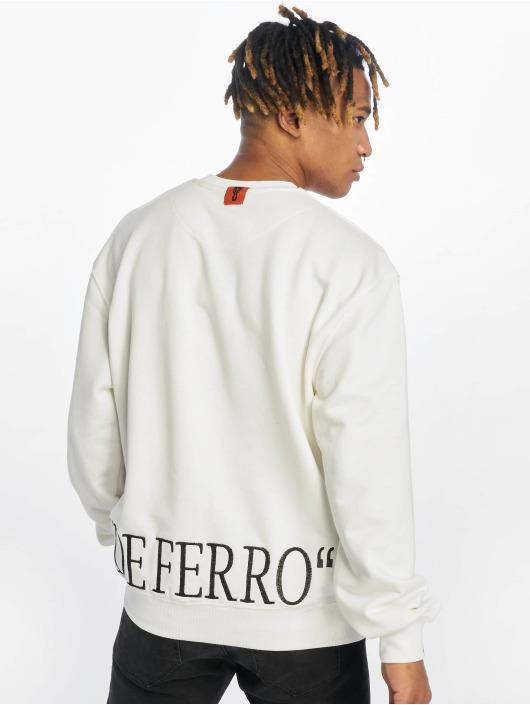 De Ferro Trøjer Blow Beige Crew hvid