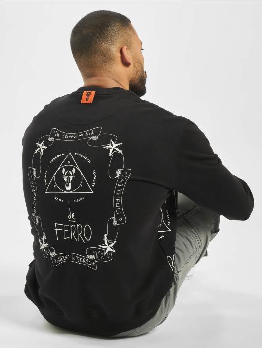 De Ferro trui Spine Fantasy Crew Love zwart