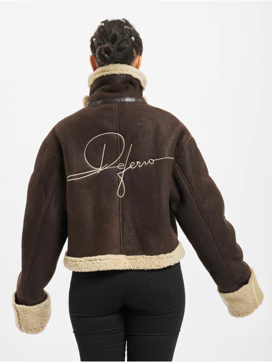De Ferro Veste & Blouson en cuir Brown Lam brun