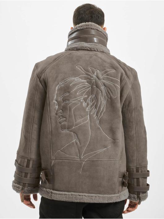 De Ferro Veste & Blouson en cuir Dread gris