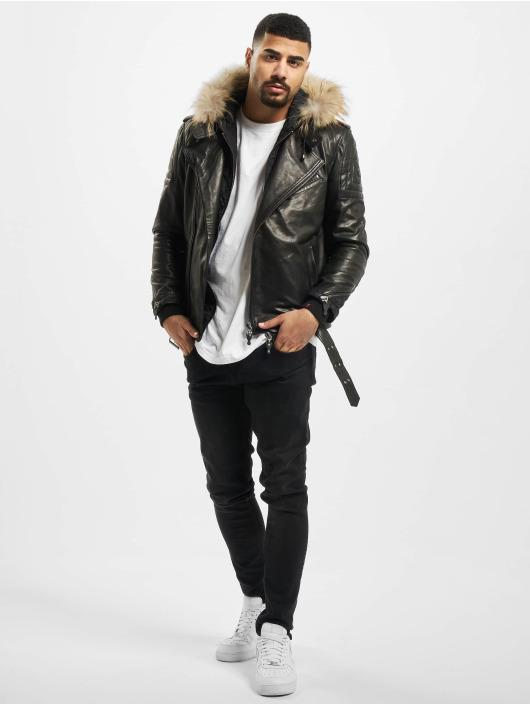 De Ferro Veste & Blouson en cuir Team Faith noir