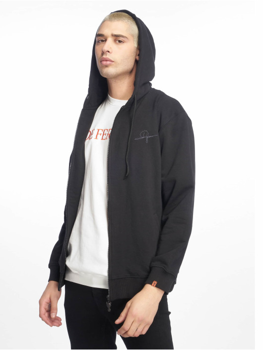 De Ferro Zip Hoodie Deferro Law Zip čern