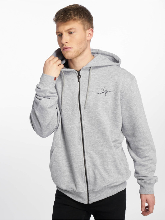 De Ferro Zip Hoodie Deferro Law grau