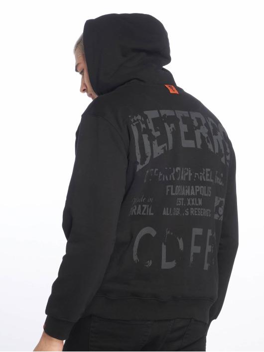 De Ferro Zip Hoodie Deferro Law Zip svart