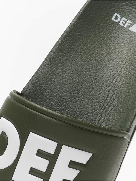 DEF Шлёпанцы Defiletten оливковый