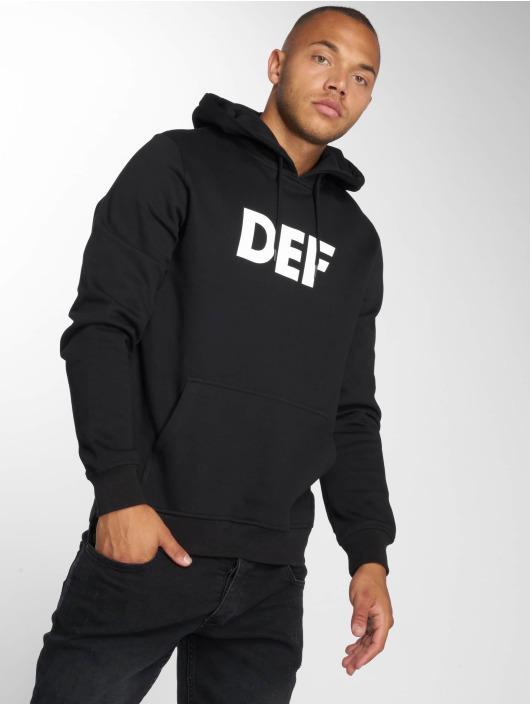 DEF Bluzy z kapturem Till Death czarny