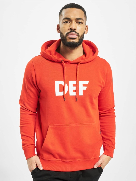 DEF Bluzy z kapturem Til Death czerwony