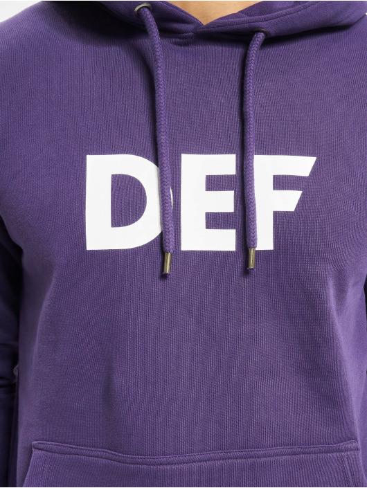 DEF Bluzy z kapturem Til Death fioletowy
