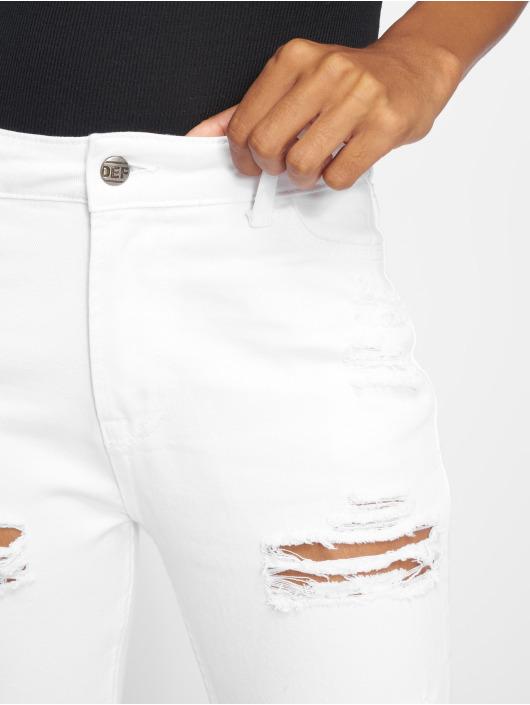 DEF Høy midje Jeans Coral hvit