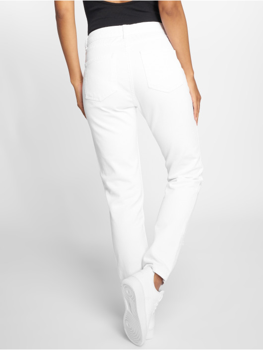 DEF High Waisted Jeans Coral white