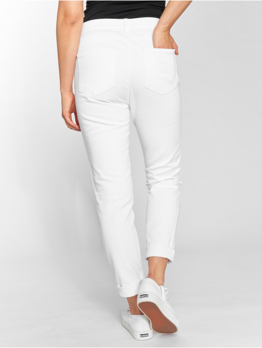 DEF High Waisted Jeans Swoop white
