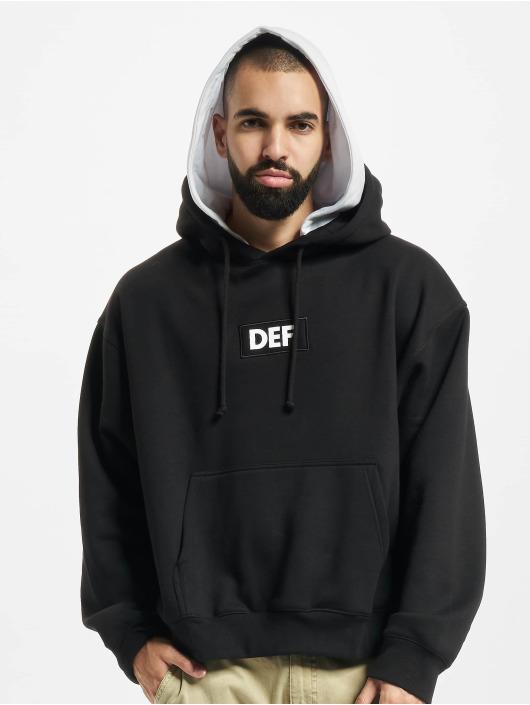 DEF Hoody Double Hooded Ole schwarz