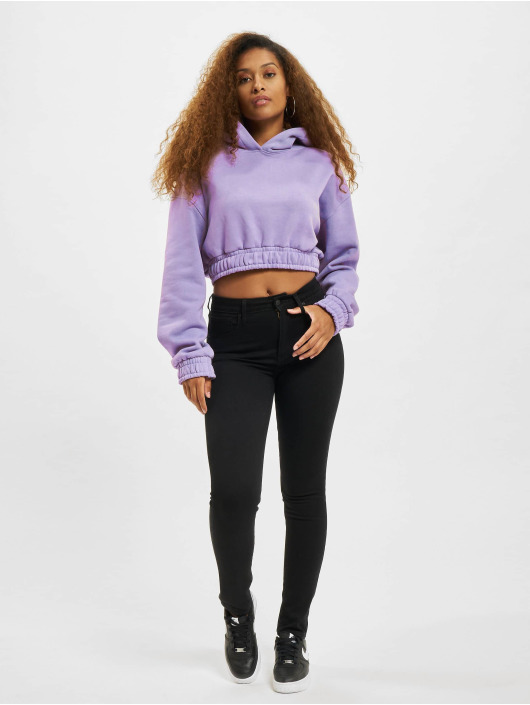 DEF Hoody Cropped violet