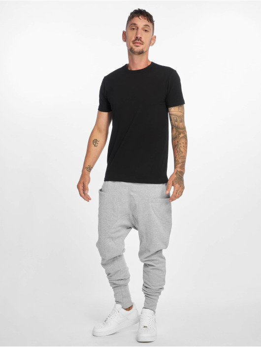DEF Jogging kalhoty Birds šedá