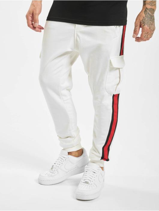 DEF Jogging kalhoty Bizz bílý