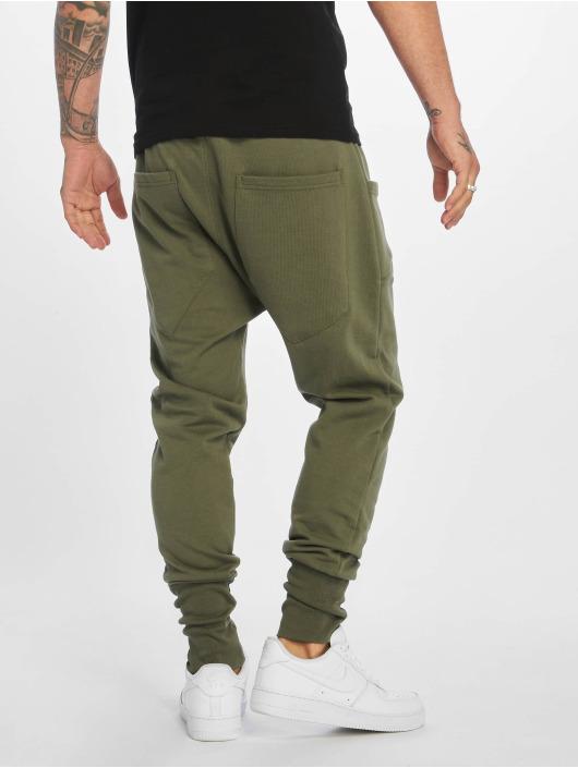 DEF Jogging kalhoty Birds olivový