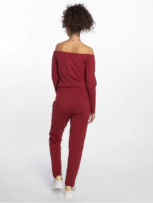 DEF Jumpsuit Stretch rot