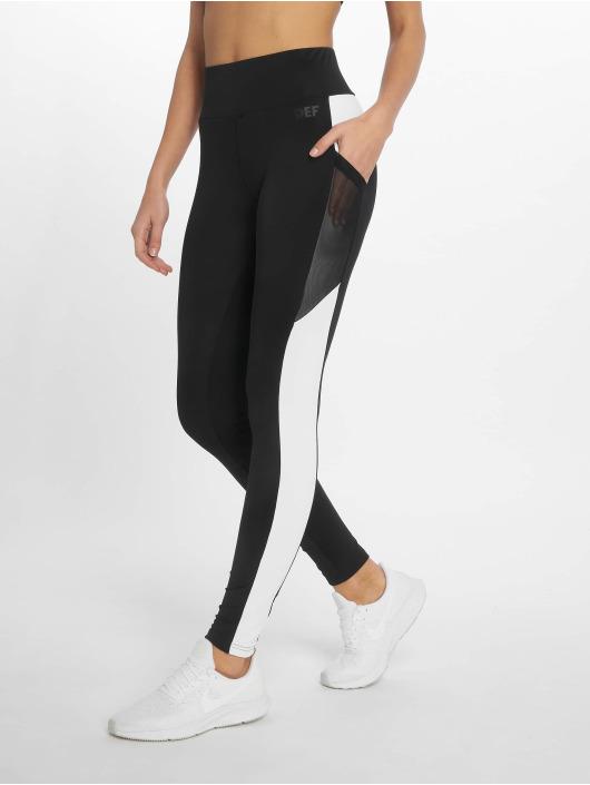 DEF Legging Stripes schwarz