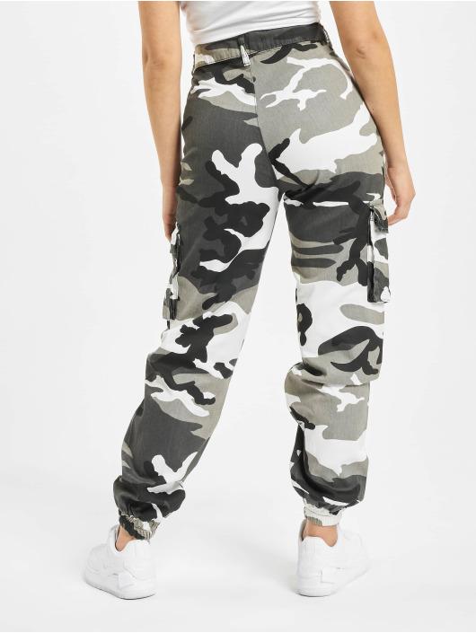 EKL Pantalon cargo d/écontract/é pour femme Motif camouflage
