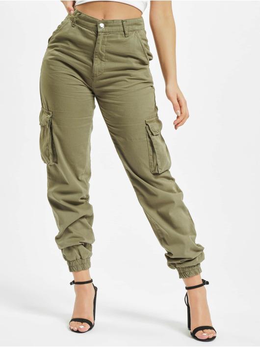 DEF Pantalone Cargo Ruby oliva