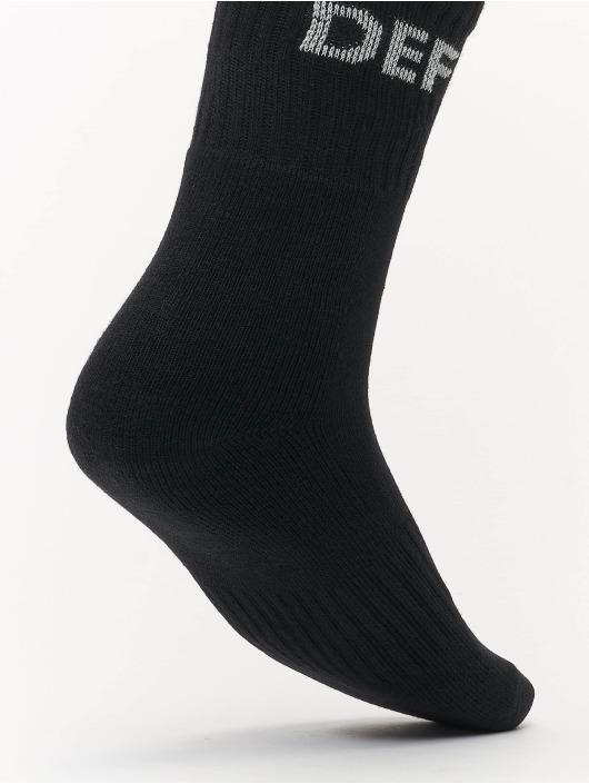 DEF Ponožky 3-Pack èierna