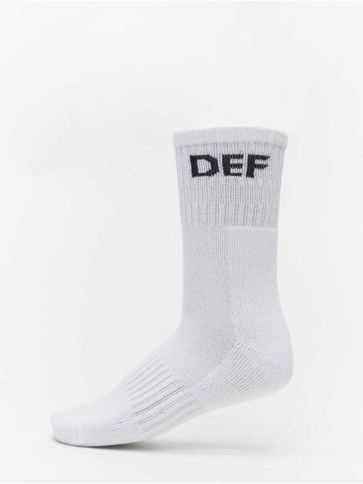 DEF Ponožky 3-Pack bílý