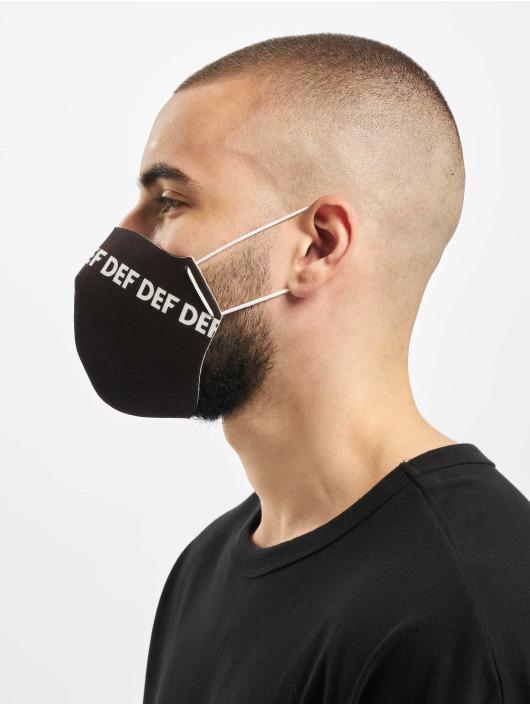 DEF Pozostałe Face Mask czarny