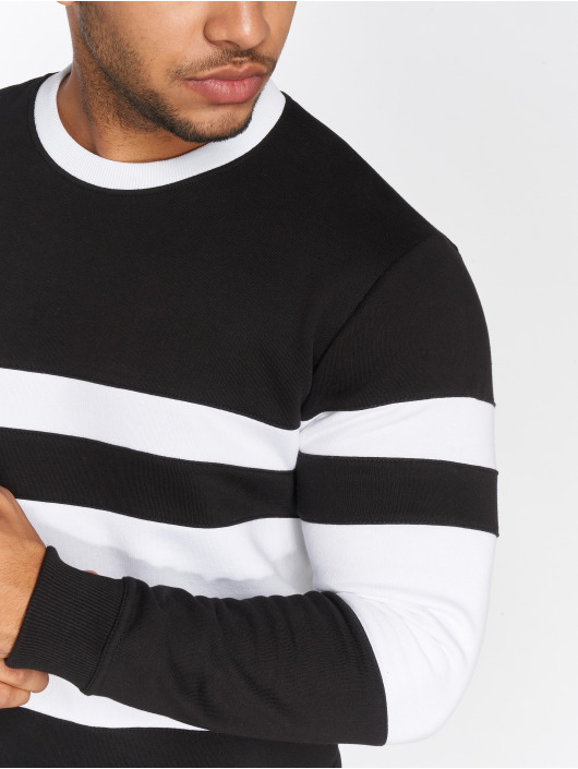 DEF Pullover Striped schwarz