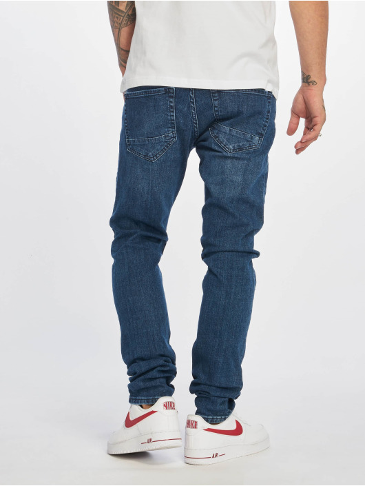 DEF Slim Fit Jeans Skom blauw